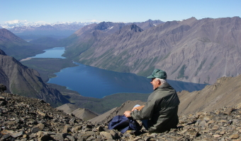 Kathleen and Louise Lake in Kluane National Park