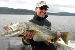 Bradley and his Lake Trout of 106 cm